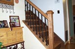 wood and Iron banister