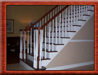 wood balustersstair and railing